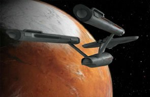 Enterprise im Orbit um Vulcan