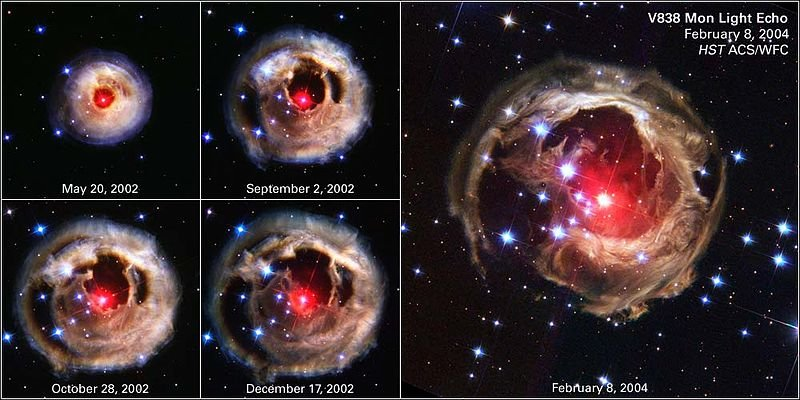 Rote Nova in Monocerotis